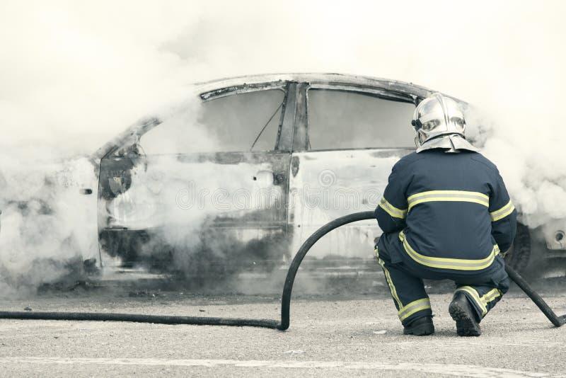 Emergency Fire Stock Photo