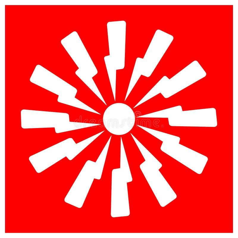 Emergency Fire Alarm Sign Isolate On White Background,Vector Illustration EPS.10. Security, safety, danger, system, red, building, warning, alert, equipment vector illustration
