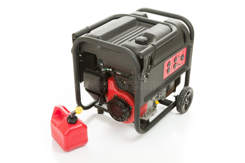Emergency Generator And Gas Can Stock Photos