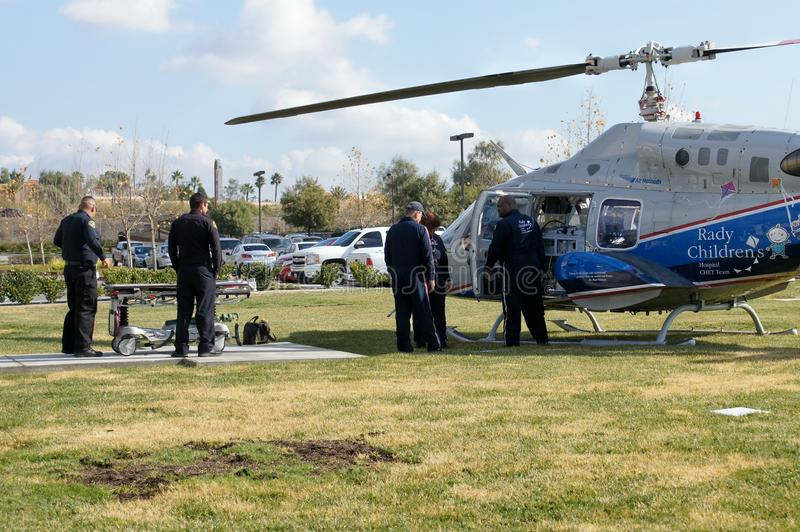 Emergency Helicopter Editorial Stock Photo