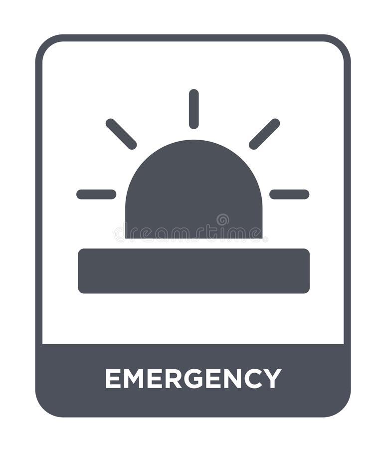 Emergency icon in trendy design style. emergency icon isolated on white background. emergency vector icon simple and modern flat. Symbol for web site, mobile stock illustration