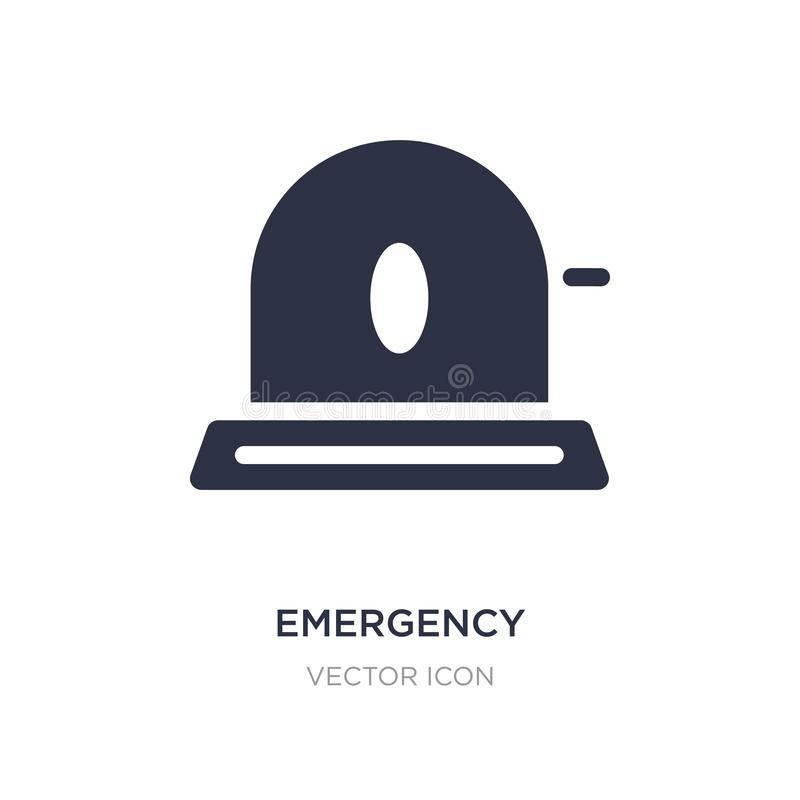 Emergency icon on white background. Simple element illustration from Health and medical concept. Emergency sign icon symbol design stock illustration