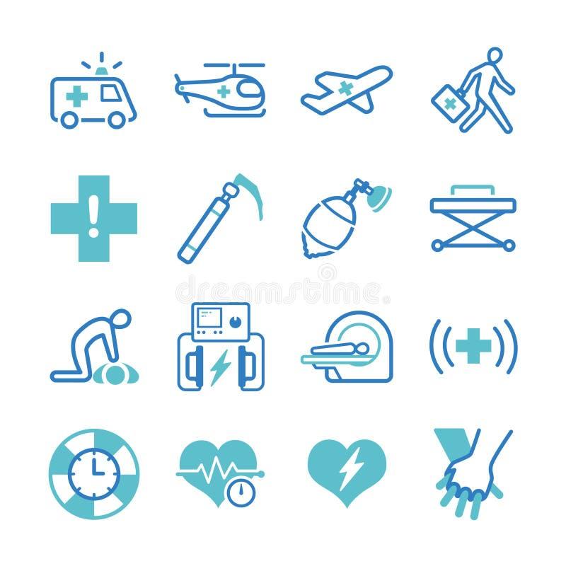 Emergency icons set. Flat Design Illustration: Emergency icons set vector illustration