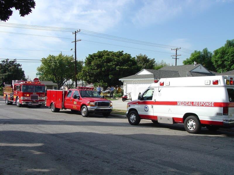 Emergency Medical Response to Resident stock image