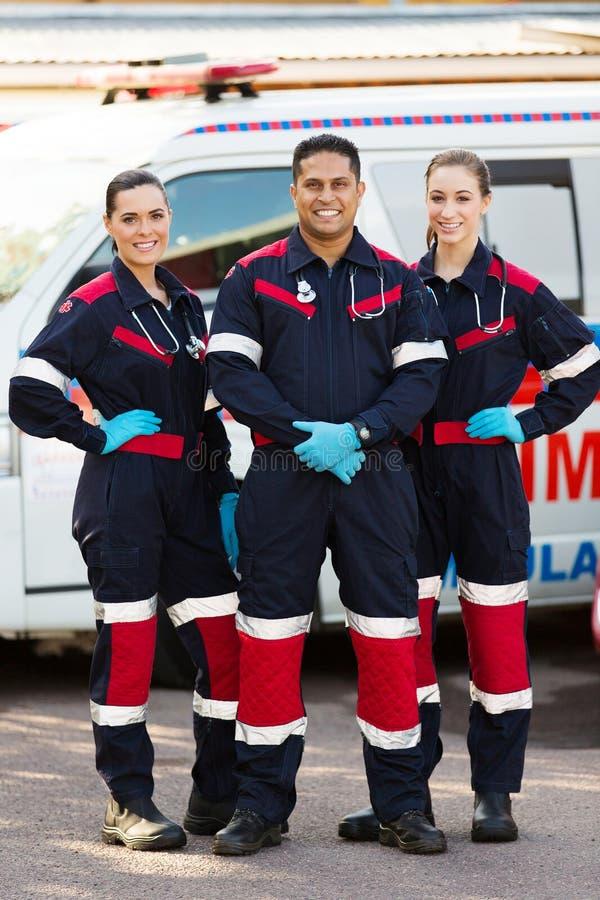 Emergency medical service team stock images
