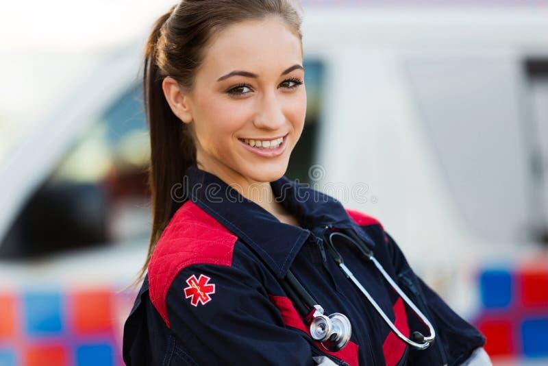 Emergency medical technician stock photo