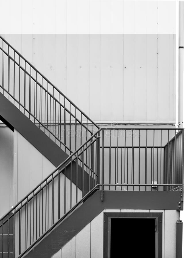 Download Emergency Metal Staircase At Building Exterior Stock Photo   Image  Of Modern, Staircase: