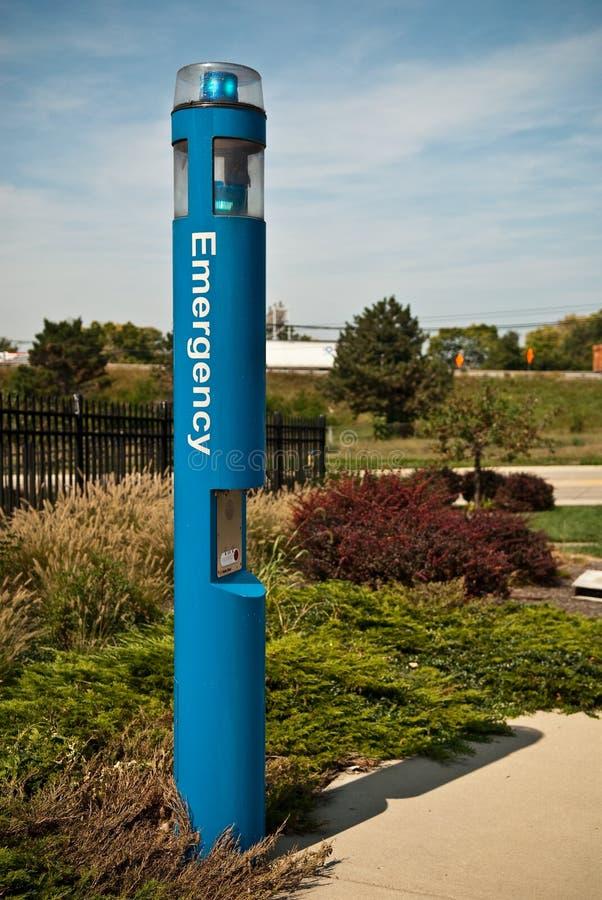 Emergency Pole stock photo