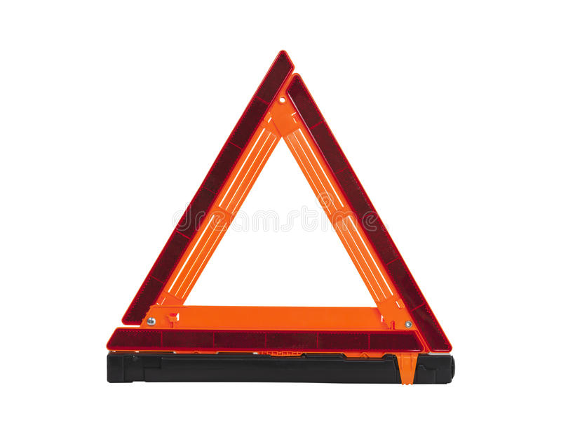 Emergency Reflective Road Triangle Isolated stock photos