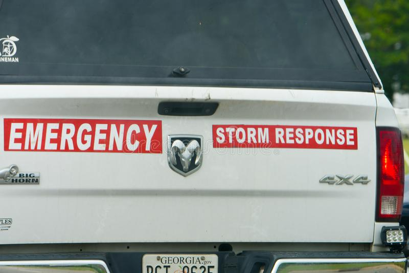 Emergency Response vehicle in Wilson, NC stock images