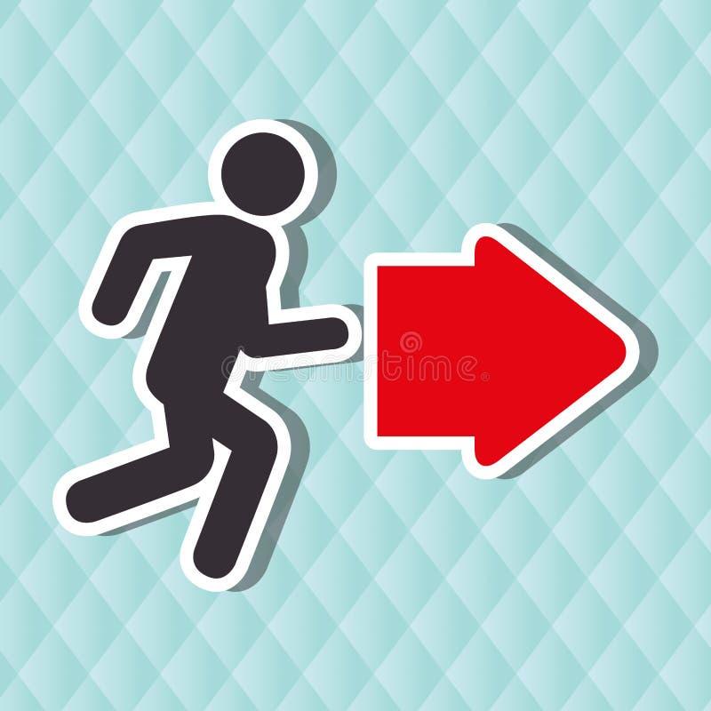 emergency route design vector illustration
