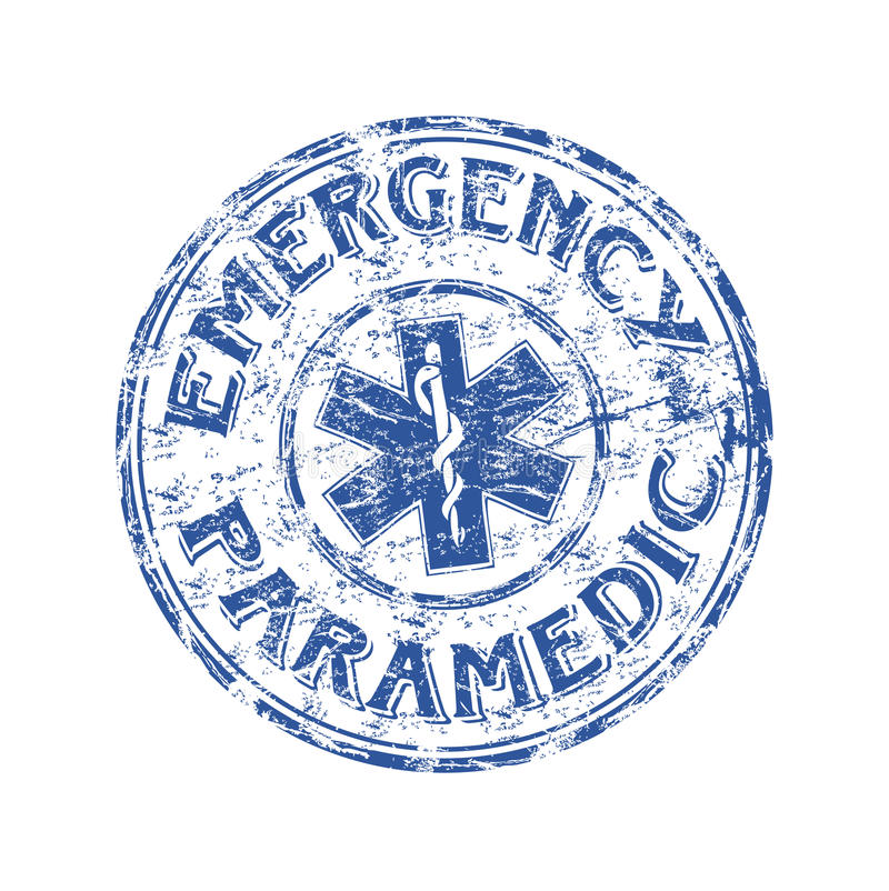 Emergency rubber stamp royalty free stock image
