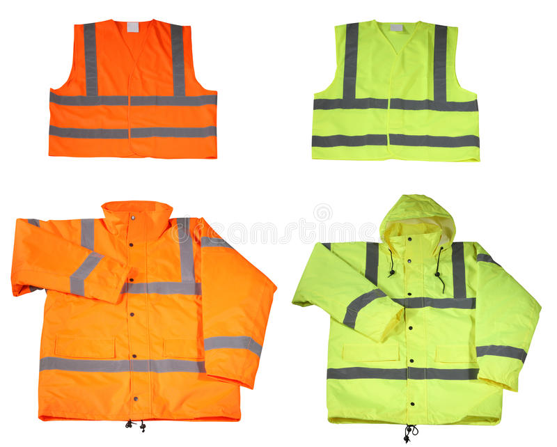 Emergency Safety Vest And Jacket Royalty Free Stock Images