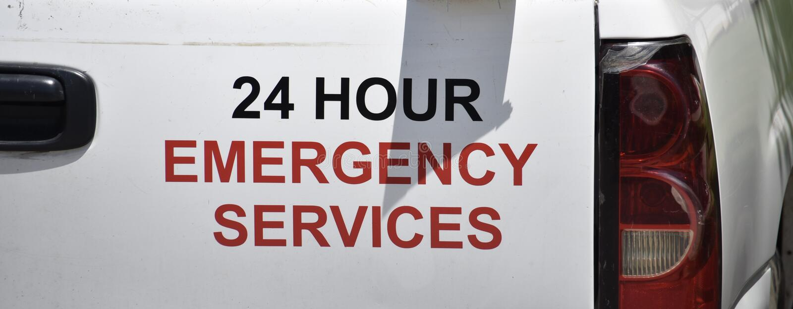 Emergency Services Provider for Flood, Fire, Plumbing Storm Damage royalty free stock photography