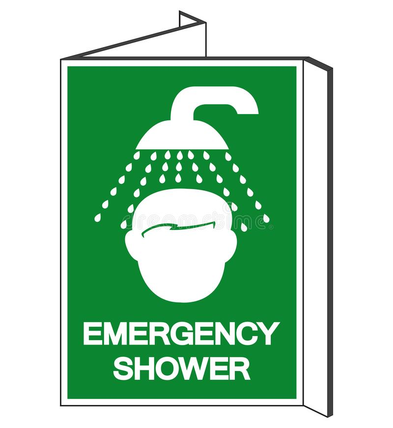 Emergency Shower Symbol Sign, Vector Illustration, Isolate On White Background Label. EPS10 vector illustration