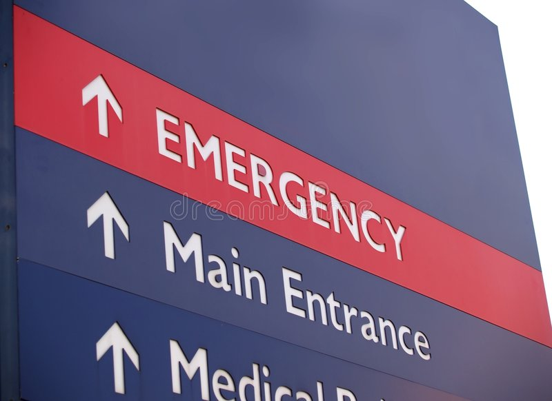 Emergency sign with copy space royalty free stock image