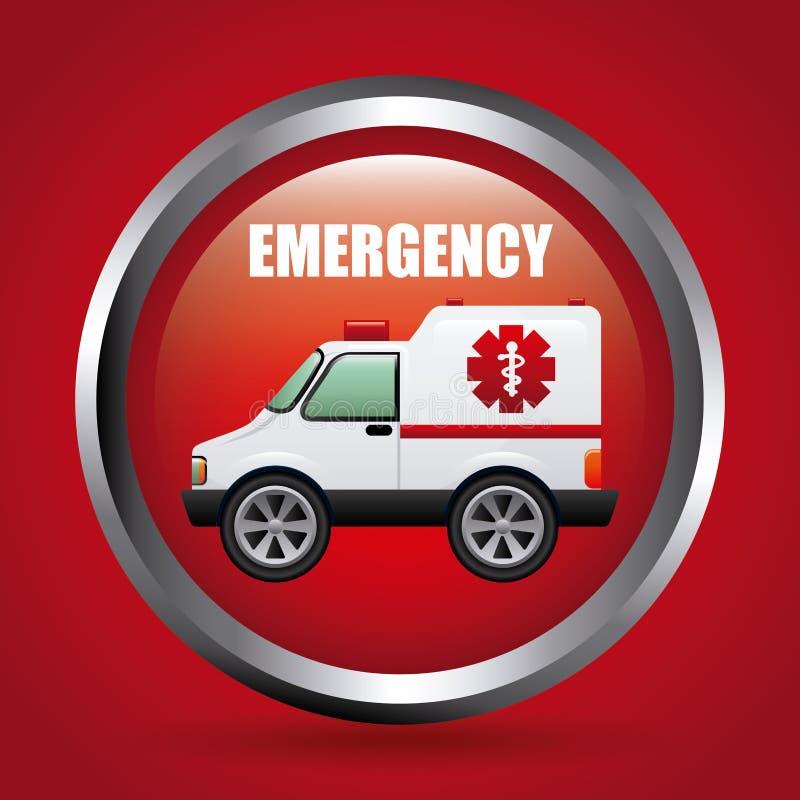 Emergency signal vector illustration