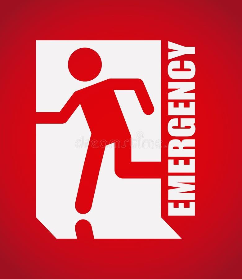 Emergency signal royalty free illustration