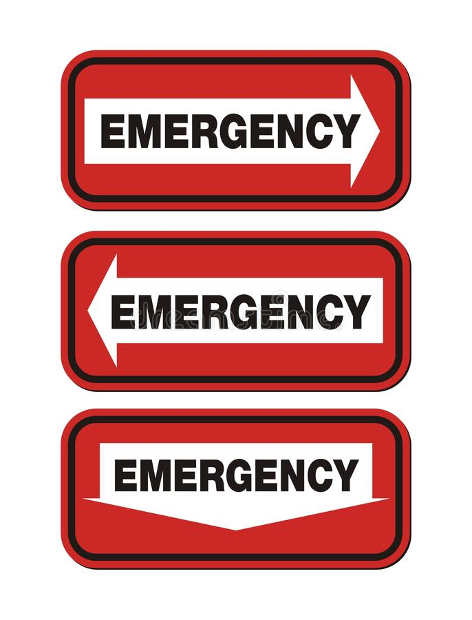 Download Emergency signs - red sign stock vector. Image of doors - 35790850