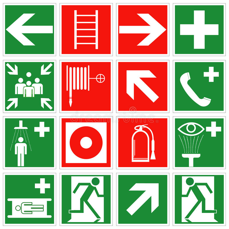 Emergency signs vector illustration