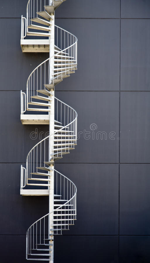 Emergency stairs. Of an industrial building stock photography