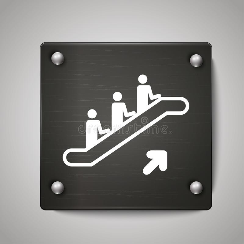 Emergency stairs iron sign royalty free illustration