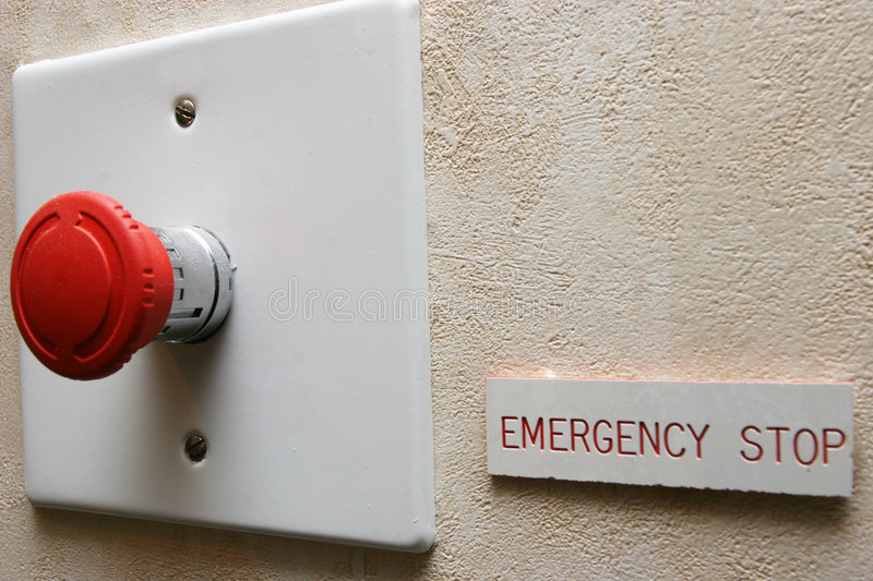 Emergency Stop royalty free stock images