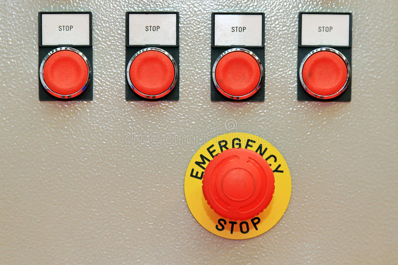 Download Emergency stop stock image. Image of stop, machine, electric - 26382893