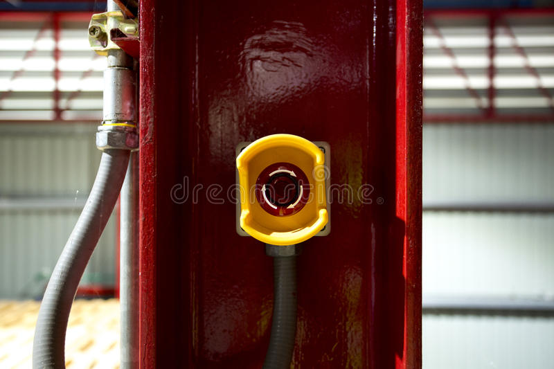 Emergency stop pushing switch. Stop everything before all damage things happen to your factory machine or business. And prevent ac royalty free stock photography