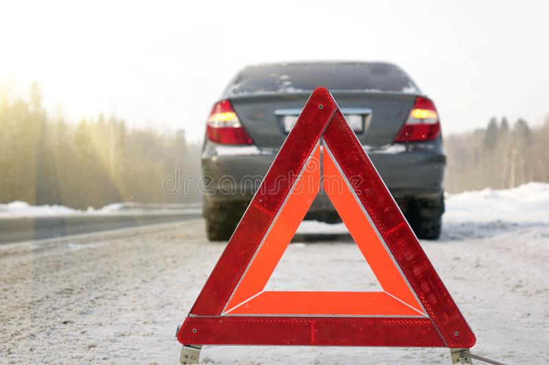 The emergency stop sign. stock photo