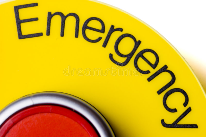 Emergency stop switch stock photo