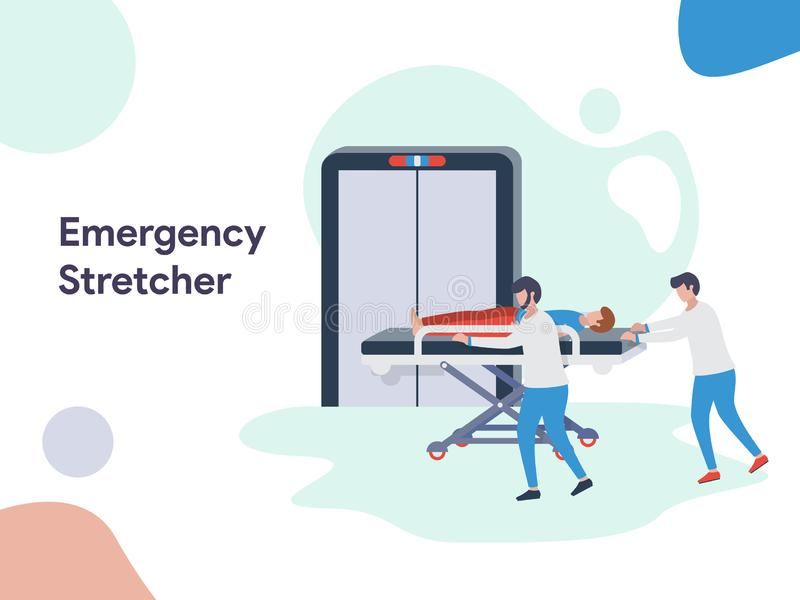Emergency Stretcher illustration. Modern flat design style for website and mobile website.Vector illustration royalty free illustration