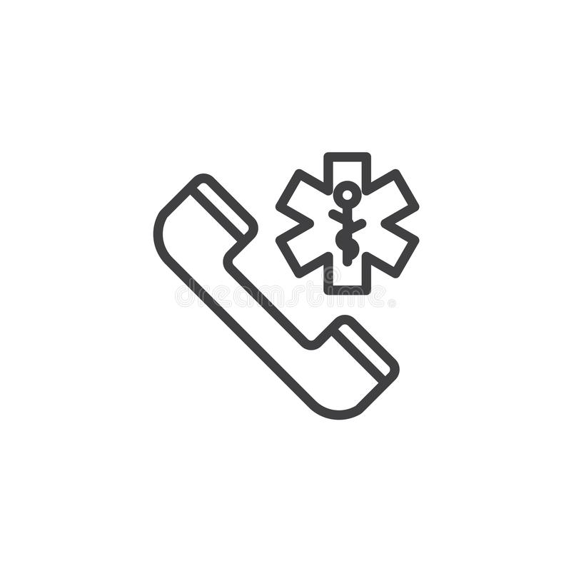 Emergency telephone call line icon vector illustration