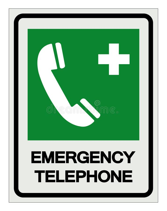 Emergency Telephone Symbol Sign, Vector Illustration, Isolated On White Background Label .EPS10 stock illustration
