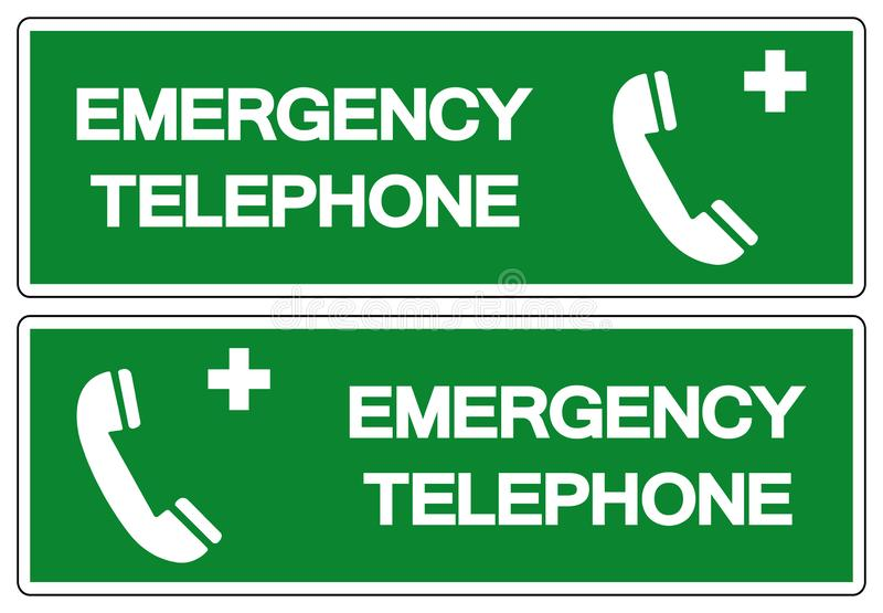 Emergency Telephone Symbol Sign, Vector Illustration, Isolated On White Background Label .EPS10 vector illustration