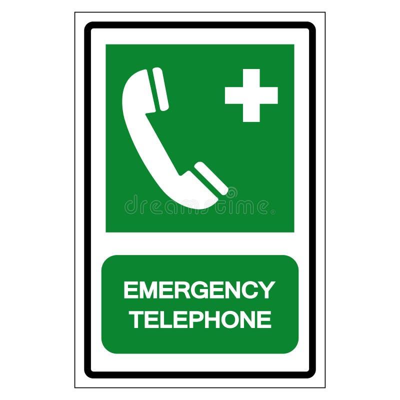 Emergency Telephone Symbol Sign, Vector Illustration, Isolated On White Background Label .EPS10 royalty free illustration