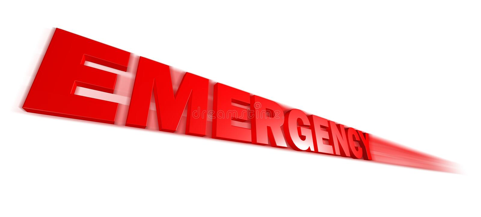 Emergency text. Speed Emergency text on a white background stock illustration