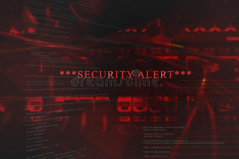 Emergent security alert on computer. A emergent Security alert on a computer system screen with nice colors and details stock illustration
