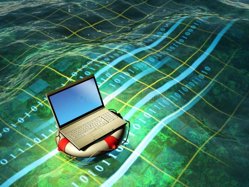 Emergenza del computer portatile illustrazione vettoriale