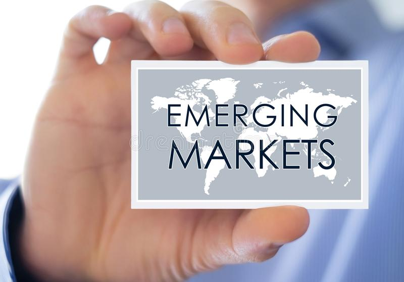 Emerging Markets - business concept royalty free stock image