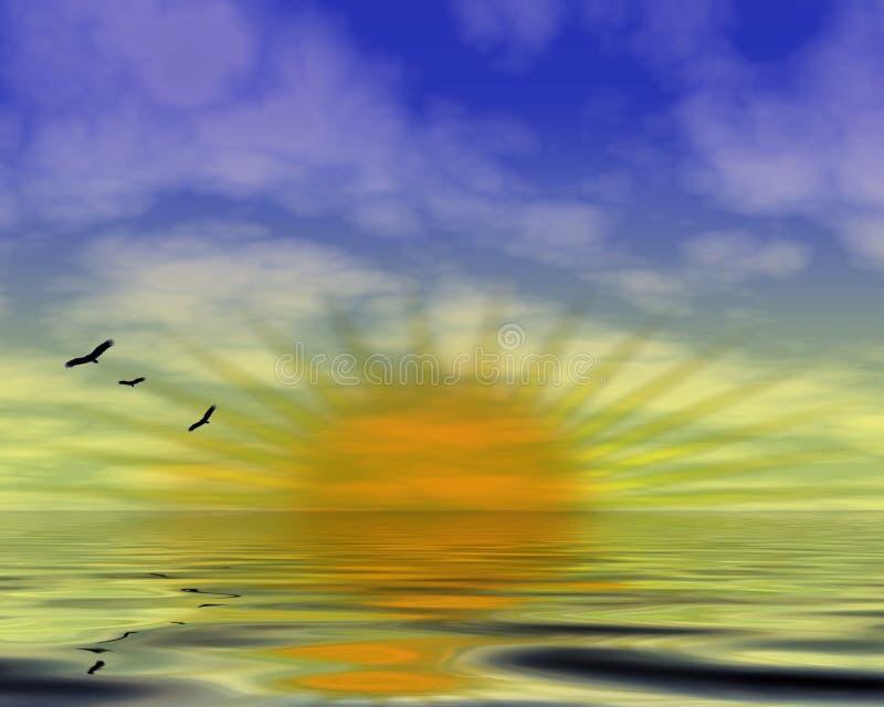 Download Emerging sun stock illustration. Illustration of water - 8330179