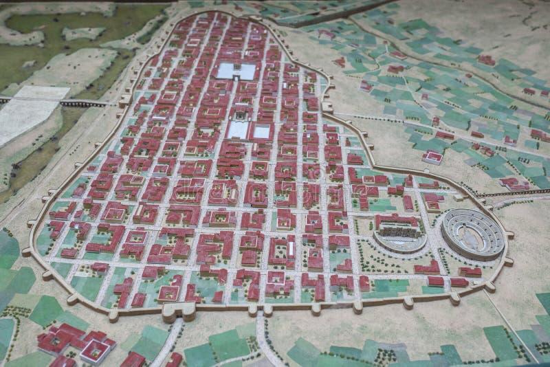 Emerita奥古斯塔北京皇城比例模型  免版税库存图片