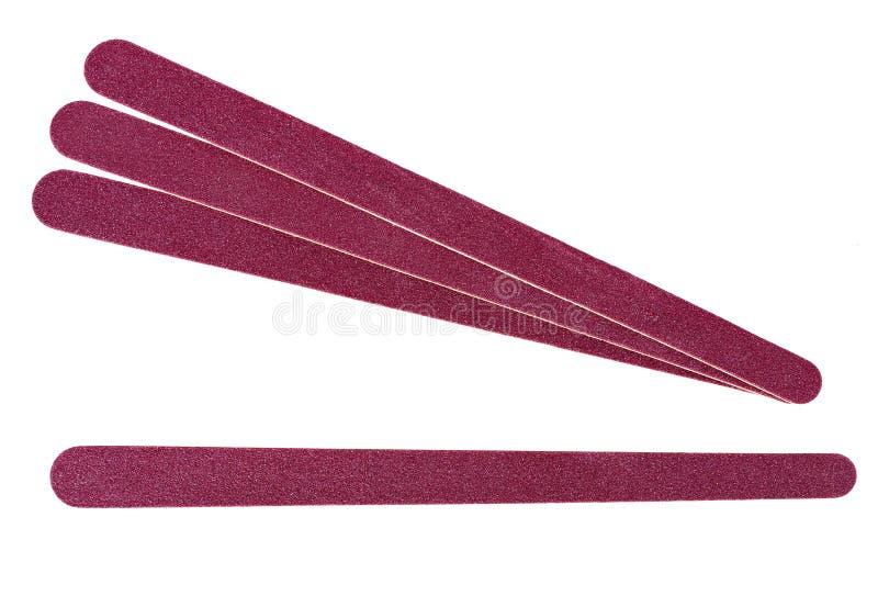 Emery boards. stock photo. Image of nail, cutout, pink