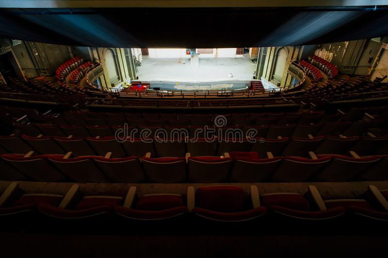 Emery Theater abandonado - sobre - Reno, Cincinnati, Ohio fotografia de stock royalty free