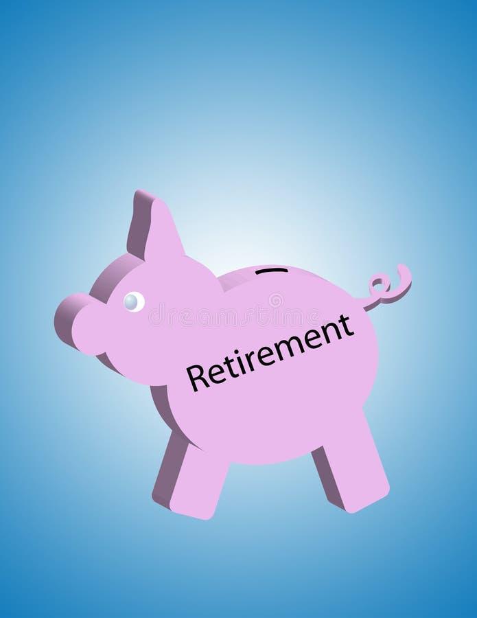 emerytura świń royalty ilustracja