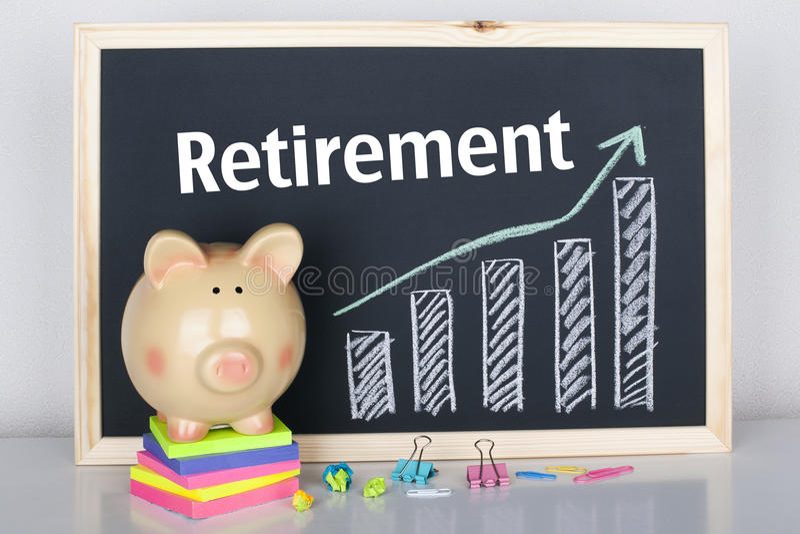 Emerytura savings zdjęcie stock