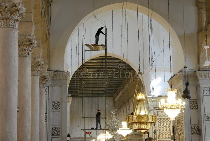 Emevi moské i Aleppo royaltyfri bild