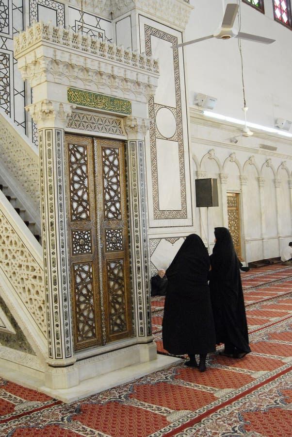 Emevi mosque in Aleppo royalty free stock photos