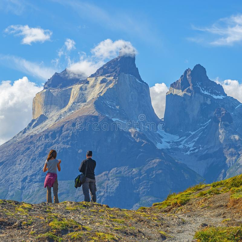 Emigrar aventura en Patagonia, Chile fotos de archivo