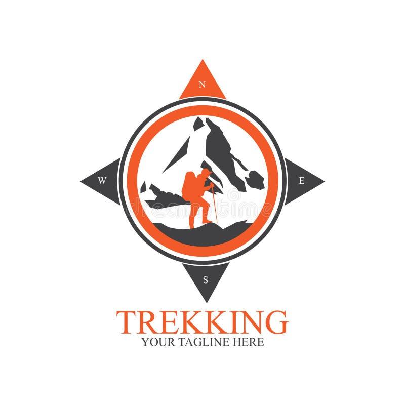 Emigrar diseño del logotipo con el compás stock de ilustración